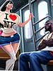 An obedient and submissive white whore - Interracial toon by Perna Longa